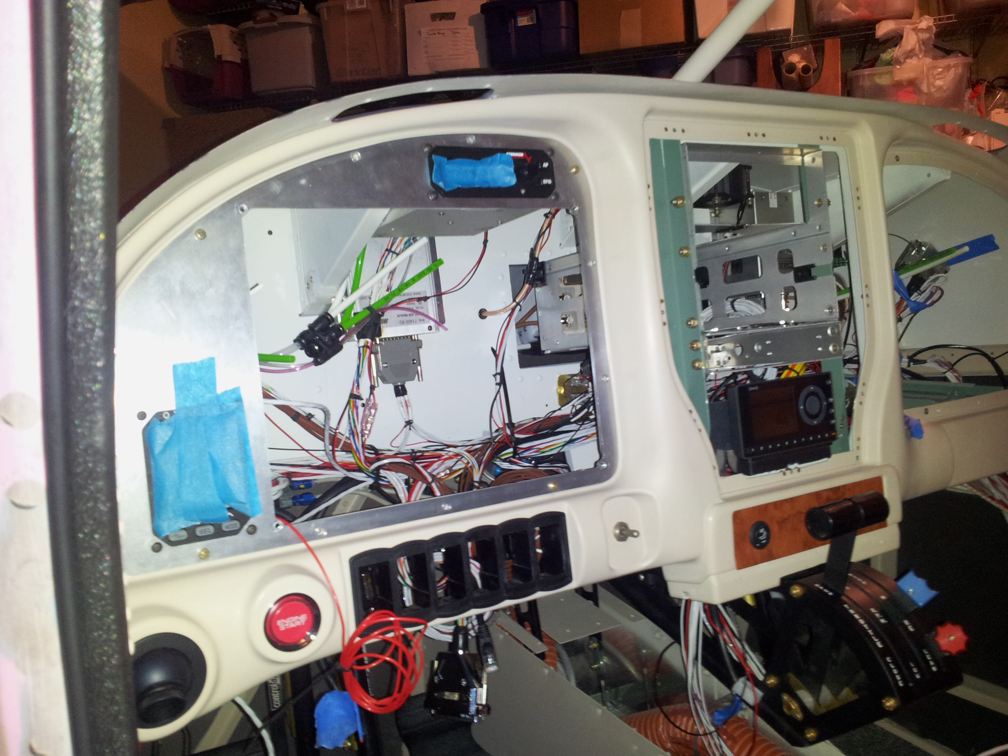Panel Wiring Continues, Aileron Boots, VPX wiring clean up, Interior ...